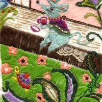 刺繍(ねずみ)